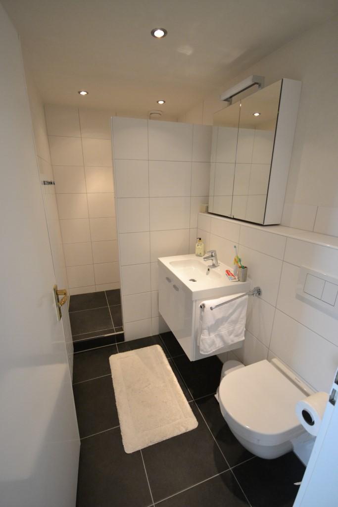 Kleine praktische doucheruimte met inloopdouche ba s - Open douche ruimte ...
