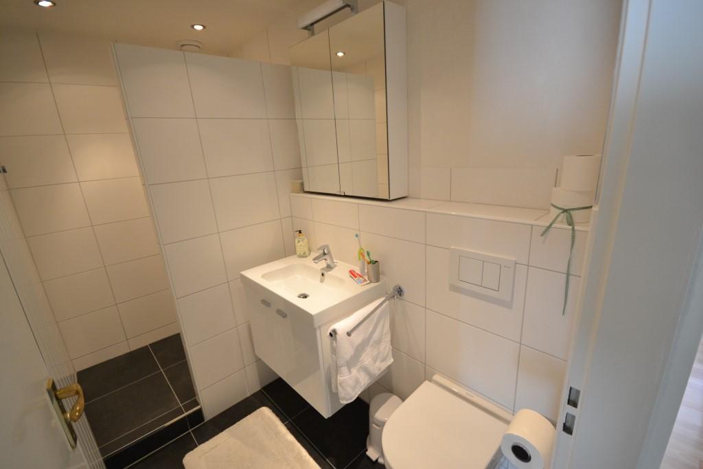 Kleine praktische doucheruimte met inloopdouche bas inloopdouche duravit - Badkamer lay outs met douche ...